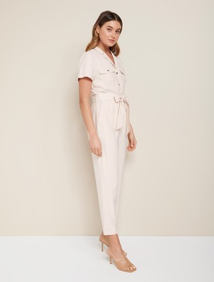 Forever New Zoe Petite Utility Belted Jumpsuit - Pale Pink - 10