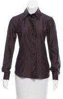 Saint Laurent Long Sleeve Button-Up Top