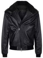 Acne Studios Shearling Collar Biker Jacket