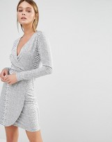 French Connection Snake Jacquard Dress