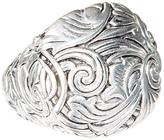 Barse Silvertone & Bronze Swirl Ring