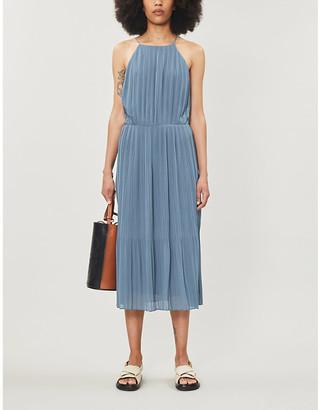 Samsoe & Samsoe Myllow pleated recycled-polyester midi dress