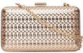 Dorothy Perkins Gold and Blush Cage Box Clutch Bag