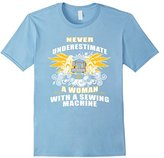 Men's Never Underestimate Woman With Sewing Quilt Machine T-shirt 2XL