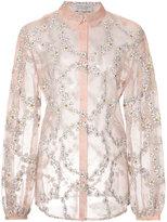 Gabriela Hearst - daisy chain sheer blouse - women - Silk - 40