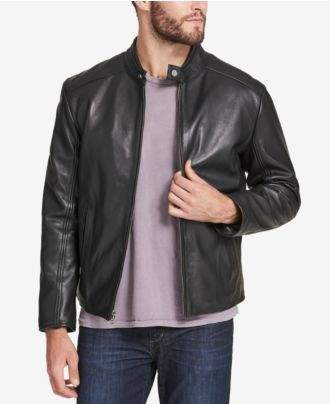 Andrew Marc Men's Leather Moto Jacket, Created for Macy's