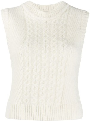 Low Classic Ribbed Knit Vest