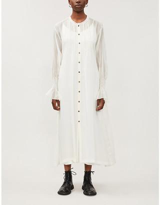 Selfridges Renli Su Flared-cuffs silk midi dress