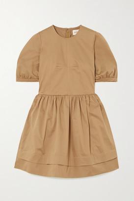 &Daughter Esther Stretch Organic Cotton Twill Mini Dress - Sand