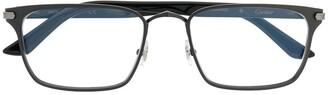 Cartier C de rectangular-frame glasses