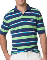 Chaps Custom-Fit Striped Pique Polo