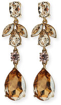 Oscar de la Renta Bold Crystal Teardrop Clip-On Earrings, Golden