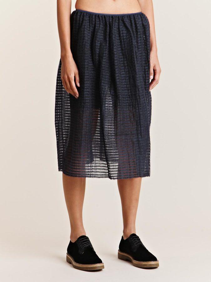 mento Women's Chenille Inlay Transparent Skirt