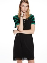 Scotch & Soda Dress With Knitted Sleeves