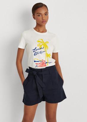 Ralph Lauren High-Rise Cotton Twill Short