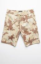 PacSun Drop Skinny Desert Camo Drawstring Shorts