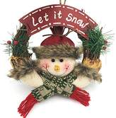 Qiyun Garland ornaments Cute Santa Claus Door Wreath Christmas Ornaments Snowman Xmas Rattan Hanging Pendants Garland For Home Decorationsstyle:Snowman