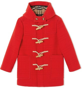 BURBERRY KIDS Double-faced Wool Duffle Coat