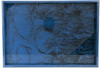 Edie Parker marble effect tray