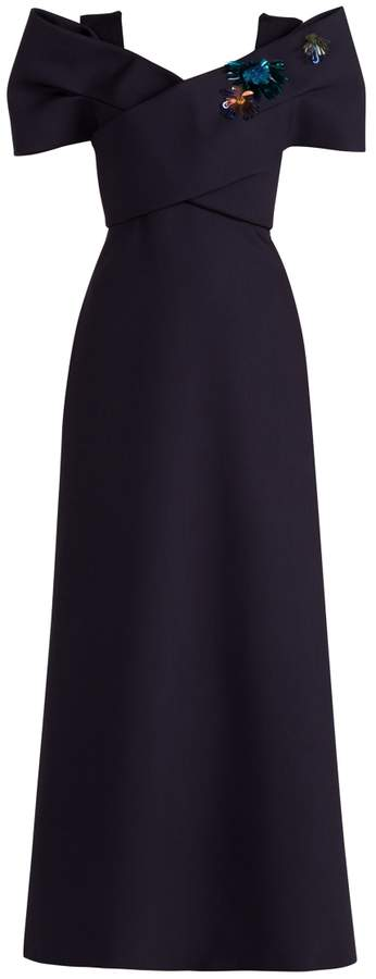 DELPOZO Embellished Sleeve Gown