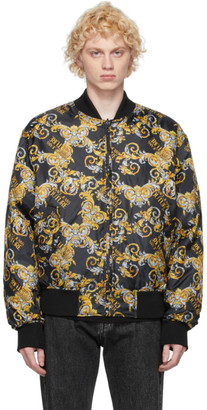 Versace Jeans Couture Reversible Black Baroque Bomber