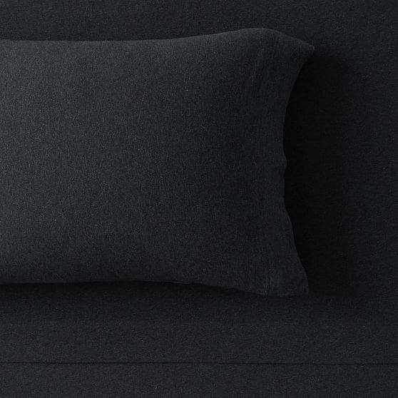 Pottery Barn Teen Favorite Tee Sheet Set, Full, Heathered Black