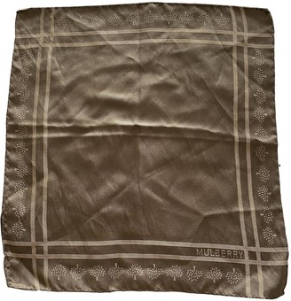 Mulberry Brown Silk Scarves