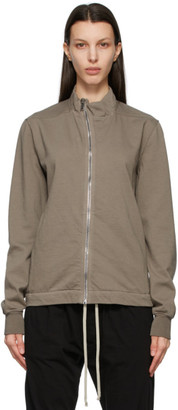 Rick Owens Taupe Mollino Zip-Up Sweatshirt