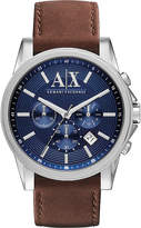 Armani Exchange AX2501 stainless steel and leather watch