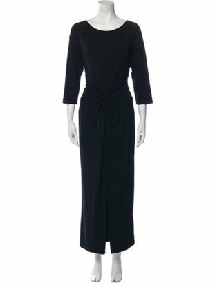 Michael Kors Scoop Neck Long Dress Black