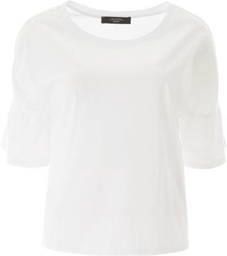 Max Mara Ruffled Sleeve T-Shirt