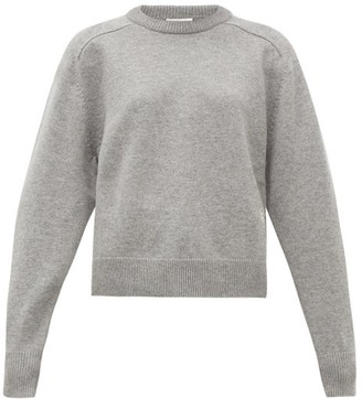 Chloé Festive Monogram-embroidered Cashmere Sweater - Womens - Grey