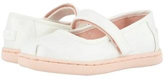 TOMS Kids Mary Jane (Toddler/Little Kid) (White Iridescent Woven) Girl's Shoes
