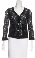 Chanel Open Knit V-Neck Cardigan w/ Tags