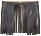 BCBGMAXAZRIA Fringed Faux Leather Waist Belt