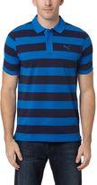 Puma Striped Pique Polo Shirt
