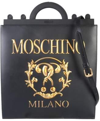 Moschino Logo Print Top Handle Shoulder Bag