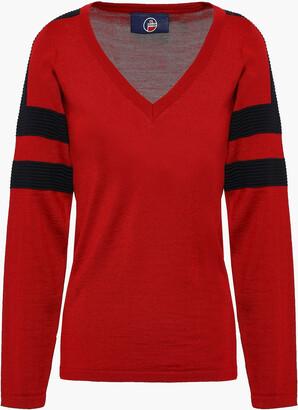 Fusalp Striped Intarsia-knit Sweater