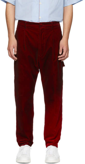 Golden Goose Red Velvet Fenix Trousers