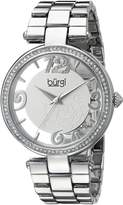 Burgi Women's BUR148SS Round Dial Three Hand Quartz Bracelet Watch