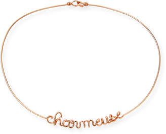 Atelier Paulin Personalized 6-Letter Wire Necklace, Rose Gold Fill