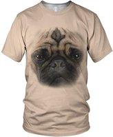 alloverprint.it All Over 3D Print Cute Pug Face Fashion Ladies T Shirt