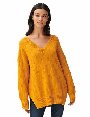 Lucky Brand Women's Long Sleeve Crew Neck Braided Stitch Sweater