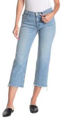Hudson Jeans Stella Midrise Straight Leg Cropped Jeans