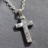 Silver Cross Martha Jackson Sterling Silver Meteorite And Necklace