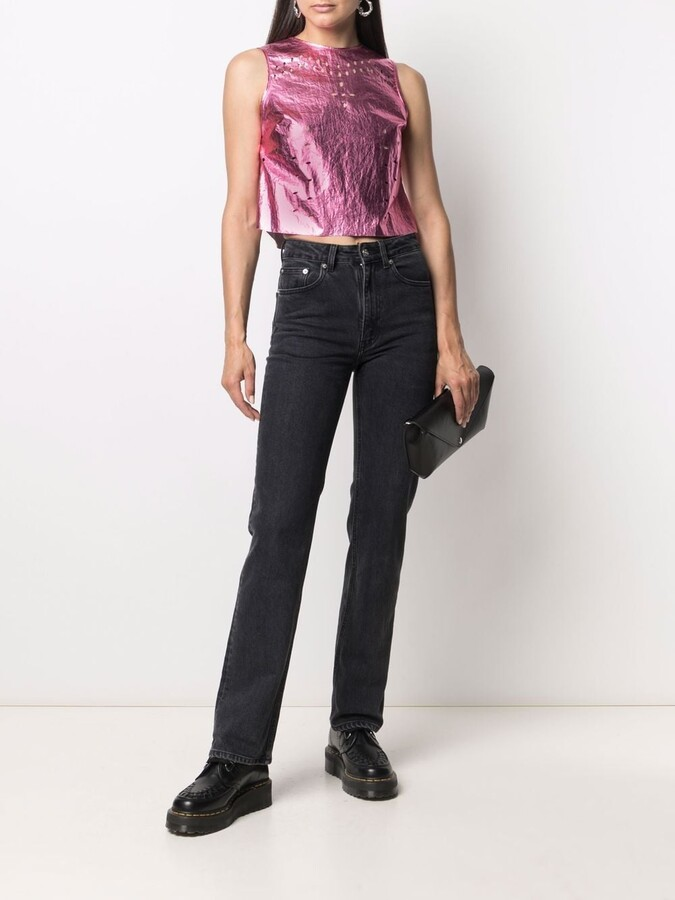 Thumbnail for your product : MAISIE WILEN Cut-Out Metallic Top