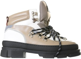 Ganni Lace Up Hiking Boots