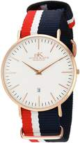 Adee Kaye Men's Quartz Stainless Steel and Nylon Casual WatchMulti Color (Model: AK1225-MRG)