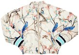 No Added Sugar Birds Printed Bomber Jacket W/ Lurex