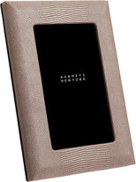 "Barneys New York Shagreen-Embossed Studio 4"" x 6"" Picture Frame-BROWN"
